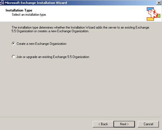 create exchange organization