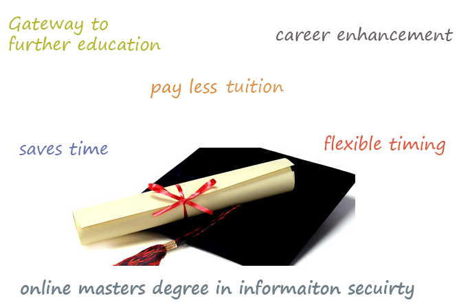 benefits of online masgter degree in information security