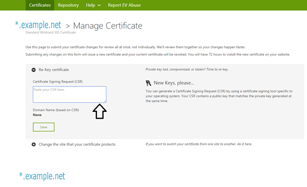 certificate signing request godaddy