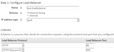 create an application load balancer in AWS