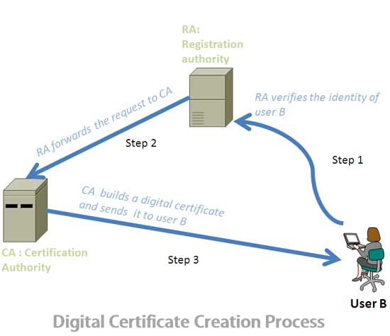 digital certificate creation process
