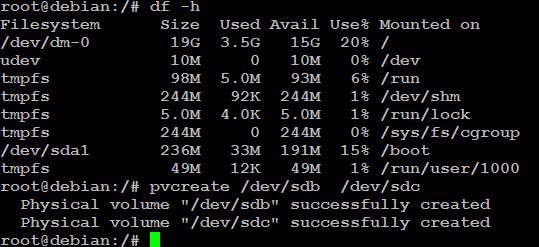 initialize a physical volume in linux