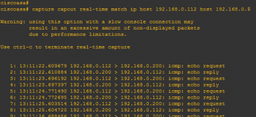 real time traffic capture in ASA CLI