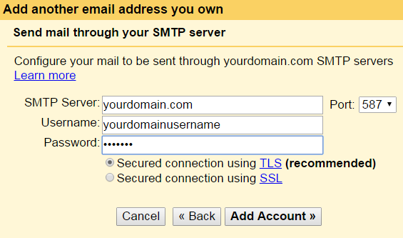 add smtp server name in gmail for postfix